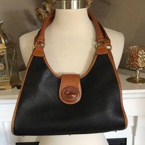 Vintage Dooney & Bourke Black/Brown Shoulder Bag